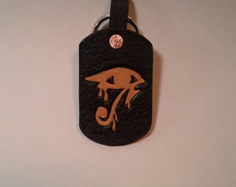 Eye of Horus, Pharah symbol overwatch keychain, handmade in USA
