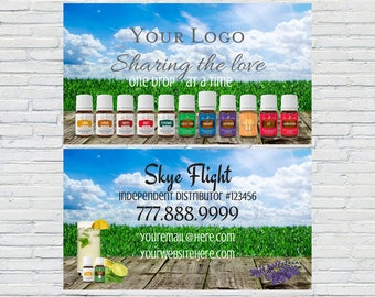 YL Business Card | Printable Business Cards, Essential Oil Business Card, Essential Oil Sales, Small Business, Oily Marketing Tools, Digital