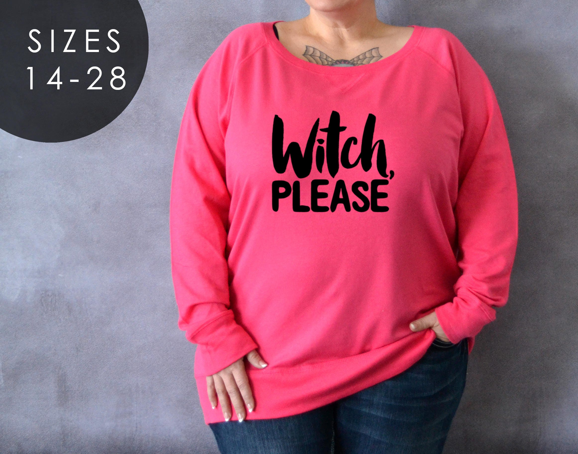 Plus size witch please shirt long sleeve halloween shirt for Plus size hocus pocus shirt