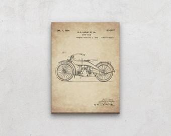 Harley Davidson Canvas Art, Patent Print, Giant Print, Harley Poster, Harley Motorcycle, Motorcycle Poster, Vintage Harley, Harley Gift