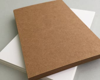 20 Blank Postcards - White And Kraft Postcards