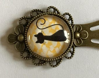 Baroque bookmark with cat cabochon