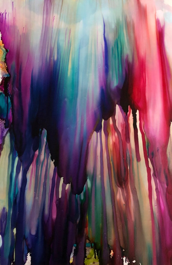 """Large Original Alcohol Ink Abstract: """"Once Upon A Time..."""" (23"""" x 35"""")"""