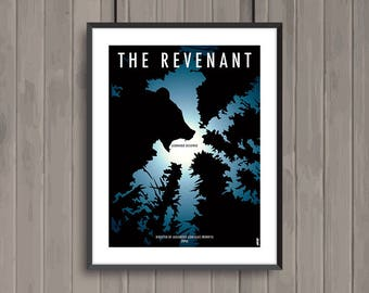 THE REVENANT, minimalist movie poster