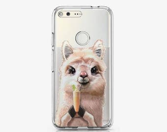 Llama Google Pixel Case Cocktail Pixel Case Pixel XL Case Animal Pixel XL Case Google Pixel Cover Lovely Phone Case Cute Cat Case gp008