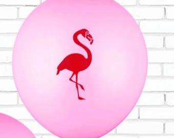 Pink Flamingo Balloons - 10 Piece Flamingo Balloons - Party Balloons - OilPatchBurlesque