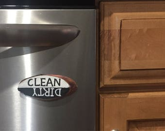 Clean Dirty Dishwasher Magnet | Dishwasher Magnet | Clean and Dirty Magnet | Dishwasher Magnet Clean and Dirty | Clean Dirty Dishwasher Wood