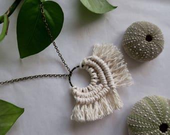 CALANDRA //  Macramé Necklace