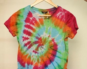 25% OFF ENTIRE SHOP Ladies Size S - Ready To Ship - Unisex - Festival - Tie Dyed - T-shirt - 100 Percent Cotton - Free Shipping within Aus