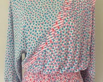 DIANE FREIS Mixed Print Dress