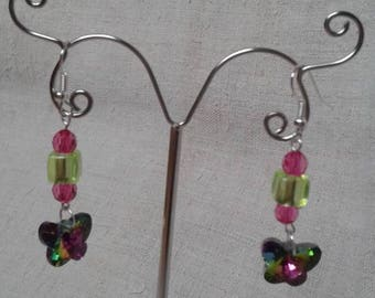 "Earrings ""multicolor Butterfly"""