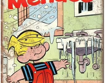 "Dennis The Menace Hank Ketcham Vintage Comic 10"" x 7"" reproduction metal sign"