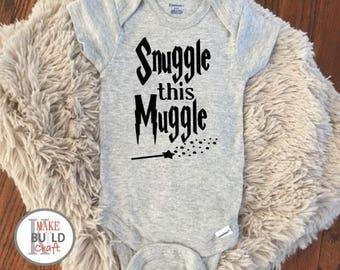 Snuggle this Muggle Baby Onesie - Harry Potter, Harry Potter, handmade, custom