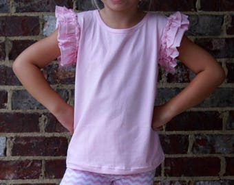 Mix and Match flutter tanks and ruffle shorts