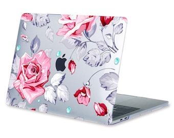 Floral Macbook Clear Hard Case Labtop Cover for Pro Air Macbook Laptop Decal Case