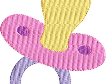 Baby embroidery design, Baby applique design, new born baby embroidery design, little bundle, Baby Pacifier Embroidery Design