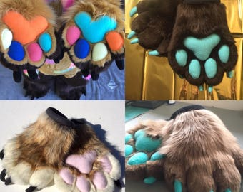 "Custom ""MONSTER"" Style Fursuit Hand Paws"