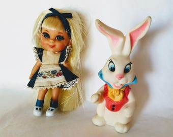 Vintage Alice in Wonderland with White Rabbit