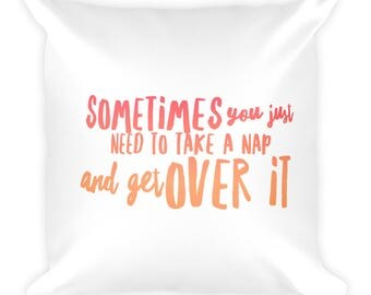 Inspiring Words Nap Time Pillow!