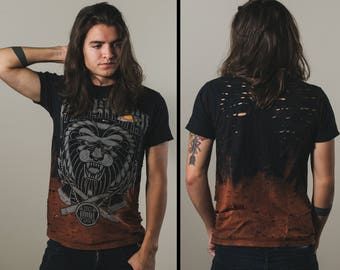Miss May I bleached distressed shirt - Reworked band tee