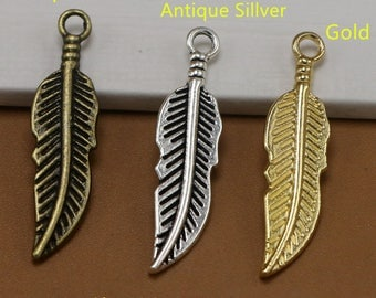 30*7mm Dream catcher Charm Pendants, Feather Charms Jewelry, Leaf Leaves Dreamcatcher Pendant Charm Accessories Jewelry