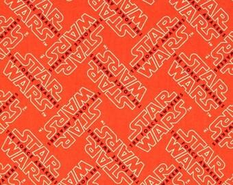 tissu Star Wars logo orange CAMELOT Fabric