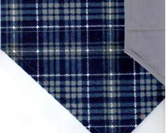 Navy/Gray Plaid Flannel Bandana | Dog Bandana | Puppy Bandana | Over the Collar Dog Bandanas | Custom Dog Bandana