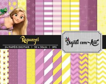 Tangled Rapunzel Digital Paper