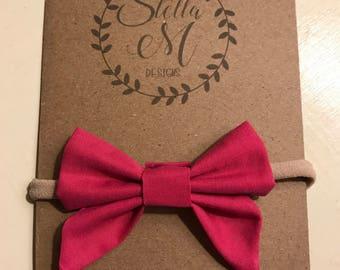 Hot Pink Sailor Bow