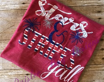 Stars and Stripes Yall, 4th of July Tank, 4th of July Shirt, Labor Day Shirt, Memorial Day Shirt, Patriotic Shirt