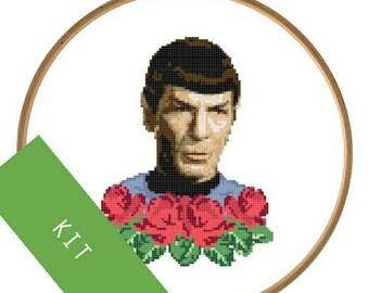 DIY KIT Spock Cross Stitch