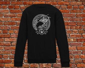 Shark sweater, shark week sweater, shark tattoo, tattoo sweater, classic tattoo art, old school sweater, hipster gift, gift for tattoo lover