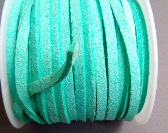 1 m cord 3mm Green turquoise