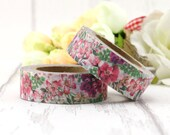 Washi Tape - Decorative Tape - Paper Tape - Planner Tape - Deco Paper Tape - Planner Washi - Floral Washi Tape - Flowers