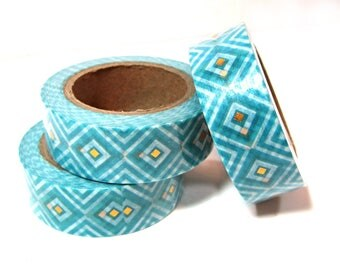 Washi Tape - Decorative Tape - Paper Tape - Planner Tape - Foil Washi Tape - Turquoise Washi - Deco Paper Tape - Planner Washi Tape