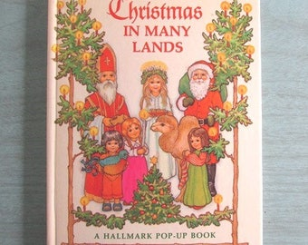 Christmas Hallmark  Pop Up Book Christmas In Many Lands by Barbara Bartocci Stories and Fun From Around The World