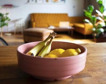 Vintage Dusty Pink Terrarium Planter or Fruit Bowl
