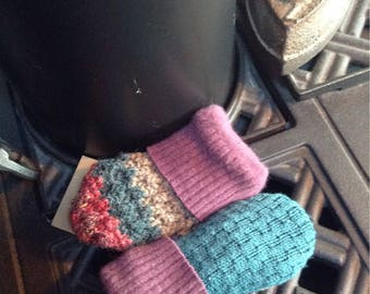 Sweater mittens , toddler sized