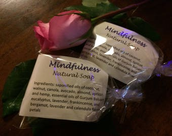 Mindfulness Homemade Vegan Natural Soap (PALM OIL FREE!)