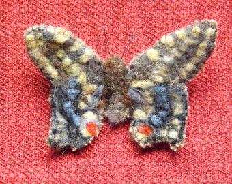 Swallowtail  Butterfly Needle Felted Brooch
