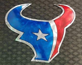Houston Texans Metal Sign