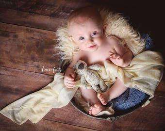 Bear - Newborn Bear - Stuffed Bear - Stuffed Animal - Newborn - Newborn Prop - Photography Prop