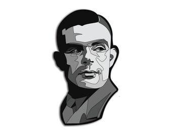 Alan Turing Enamel Pin