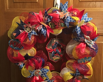 Superman Decomesh Wreath