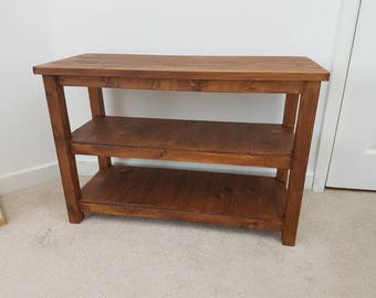 Wood Shoe Rack Bench Storage for Hallways Rustic Solid