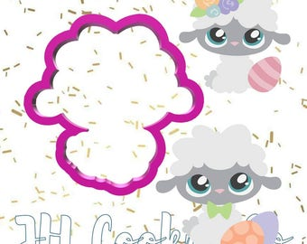 cute girl or boy lamb cutter