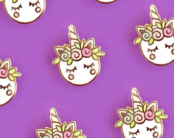 PREORDER-Unicorn Macaron Hard Enamel Pin-Brooch-Lapel Pin-Hat Pin