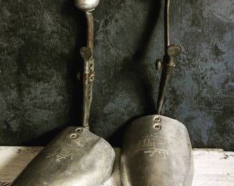 Vintage Aluminium Shoe Trees, Photography Props, Props, Styling