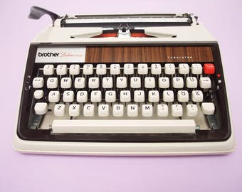 Vintage Typewriter - Brother Deluxe 1300 - Working Perfectly - Fully Serviced