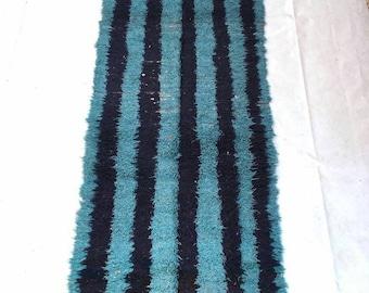 Vintage Boucharouit  8.5 × 3.2 feet / 256 × 96 cm moroccan  rug